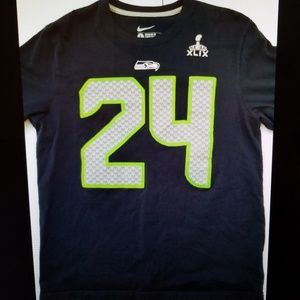 Nike NFL Seattle Seahawks Lynch Jersey Shirt